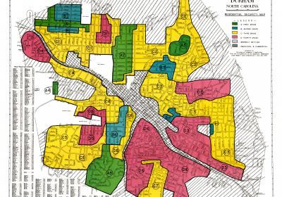 Durham, NC, redlining map