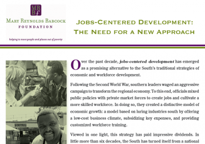 Jobs-Centered Development: the Need for a New Approach